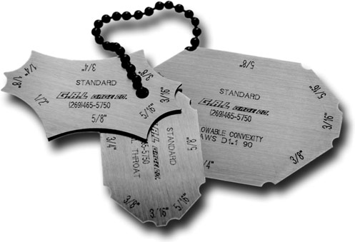 G A L Gage Company Weld Measuring Keys Fixed Sizes