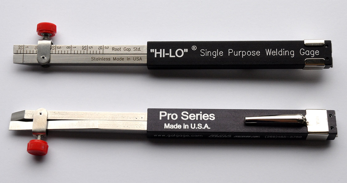 PRO Single Purpose Hi-Lo Welding Gauge - 1/32 or Zero Line, Eliminates Rejects - Improves Productivity, Available in Inch or Metric