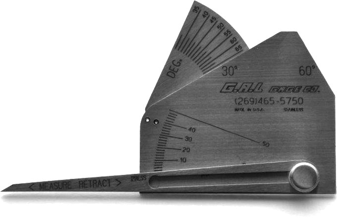 G A L Gage Company Weld Measuring Gauges Adjustable Sizes